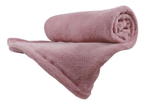 Cobertor Manta Bebe Infantil Microfibra Rosa 80cm X 115cm