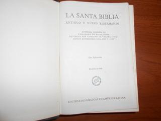 La Santa Biblia. Reina-valera. México. 1960.