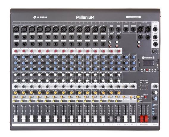 Mesa De Som 16 Canais 3 Aux. Efeito Usb Bluetooth M1602d Nca