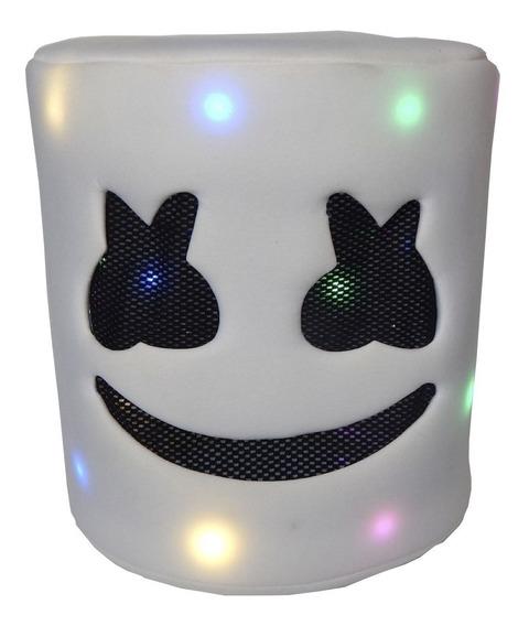 Marshmello Mascara Niños Luz Dj Casco Cabeza Marshmallow Bl