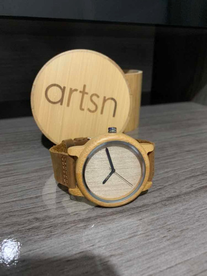Relógio Unissex Bambu Madeira Anal. Artsn