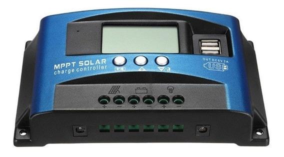 03 Unidades Controlador Carga Solar 12v 24v 40a Mppt