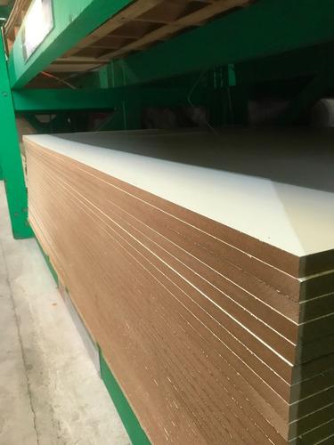 Mdf Melaminico Blanco 18mm X 2,75mt X 1,85mt