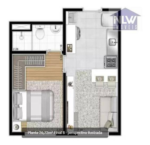 Apartamento Com 1 Dormitório À Venda, 26 M² Por R$ 216.882,00 - Jardim Prudência - São Paulo/sp - Ap1352