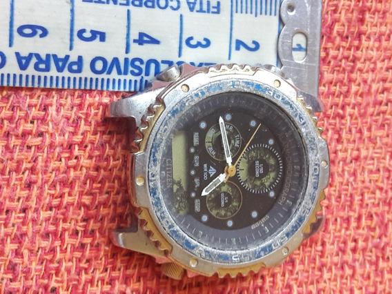 Relógio Antigo Citizen C110 Promaster No Estado Leia Descriç