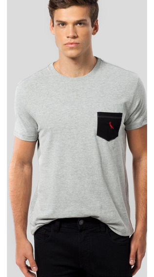 Camiseta Ms Bolso Pt Pica-pau Bordado Reserva