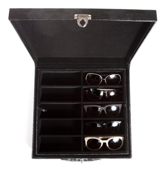 Maleta Para 20 Óculos Organizador Expositor Couro Ecológico