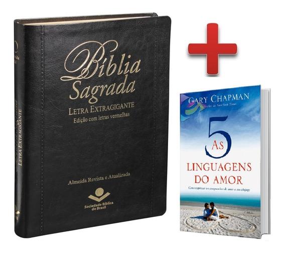 Bíblia Letra Extragigante Ra 17x23 + Livro 5 Linguagens Amor