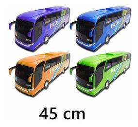 Kit 3 Onibus Brinquedo Miniatura Iveco Criança Menino