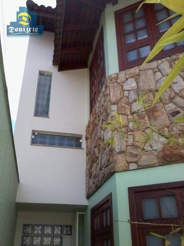 Sobrado Com 3 Dormitórios À Venda, 246 M² Por R$ 1.470.000,00 - Campestre - Santo André/sp - So1299