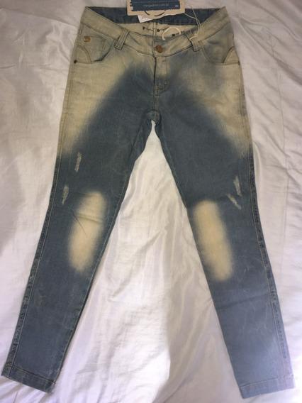 Calça Jeans New Baggy Jet Azul Pp - Moda Gestante Megadose