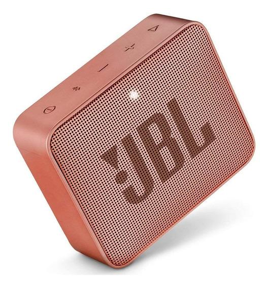 Caixa De Som Jbl Go 2 Bluetooth 3 Watts Prova Água Salmão(cinnamon) Original Lacrada