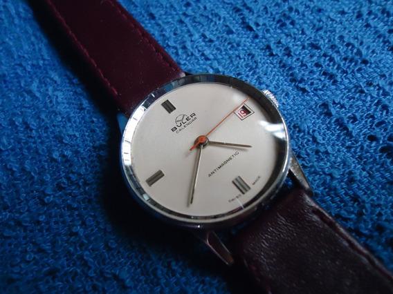 Buler Calendar Reloj Suizo Vintage