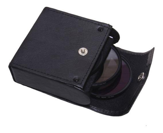 3 Pcs Lente Filtro 49mm 52mm 55mm 58mm 67mm 72mm 77mm Câmera