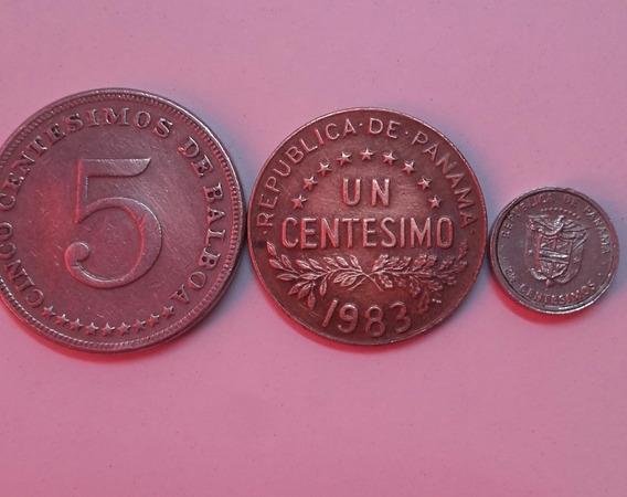 Monedas Panamá 1976- (incluida La Mas Pequeña Del Mundo)