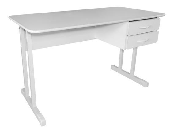 Mesa Para Escritório Com 2 Gavetas 120 X 60 Platina