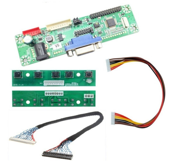 Placa Tv Lcd Led Universal Vga Kit Mt561 + Cabo - Dif. V56