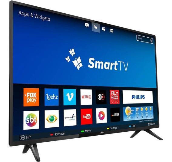 Smart Tv Led 32 Philips Hd 2 Hdmi 2 Usb Wi-fi 60hz - Preta