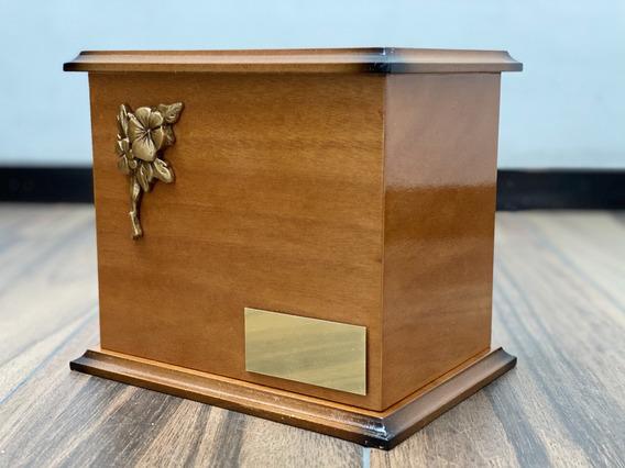 Urna Funeraria P Cenizas Clásica Rosa C/placa Personalizada