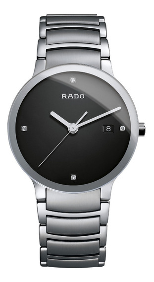 Reloj Rado Centrix Jubilé R30927713 Diamonds Plateado Negro Para Hombre