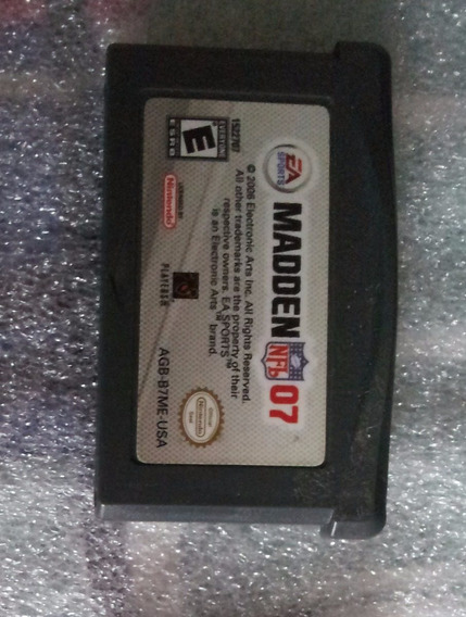 Madden Nfl 07 Game Boy Advance Gba Nintendo Original Jogo