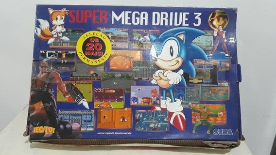 Mega Drive 3 10 Jogos Na Memoria Mais Cartucho !!