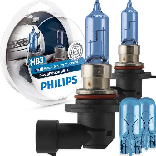 Imagem 1 de 6 de Kit Lâmpada Philips Crystal Vision Ultra Hb3 60w-12v 4300k