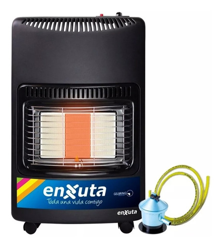 Imagen 1 de 3 de Estufa Gas Con Valvula De Seguridad Manguera Enxuta Eenxgv2