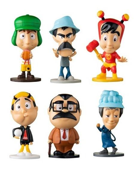Coleção Turma Do Chaves Miniaturas Bobs 6 Personagens Vila