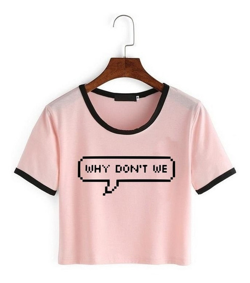 Remera Why Dont We Wdw5 Corta Rosa Top 1