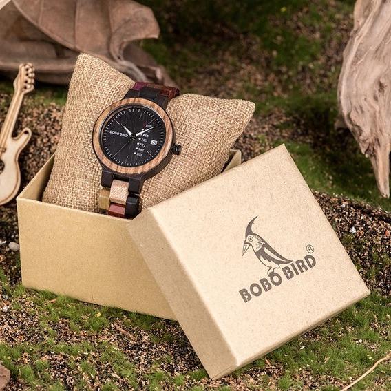 Reloj De Madera Marco Bobo Bird