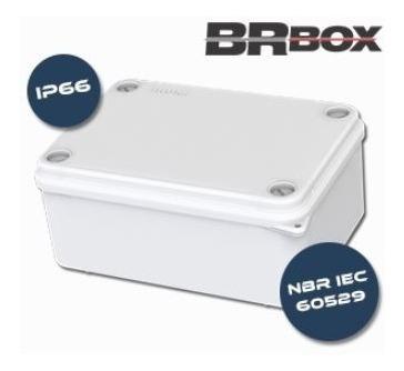 10 Caixas De Passagem 100x100x50 Ip66 Hermética Branca Brum