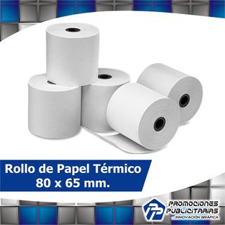 Rollos Térmicos 80x65mm. Impresoras Fiscales Bixolon 50 Und