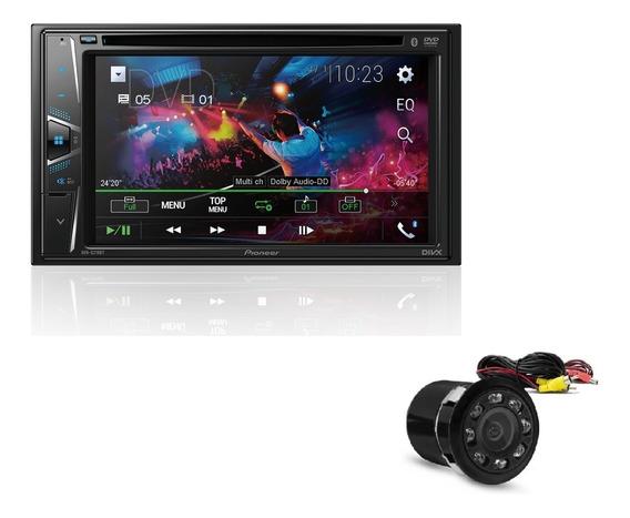 Dvd Pioneer Carro Avh-g218bt + Camera De Re Visao Noturna