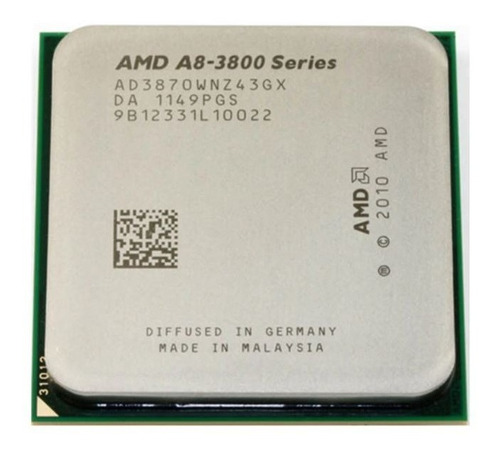 Imagem 1 de 5 de Processador Amd Fm1 A8-3870k 3.8ghz Amd Radeon Hd 6550d