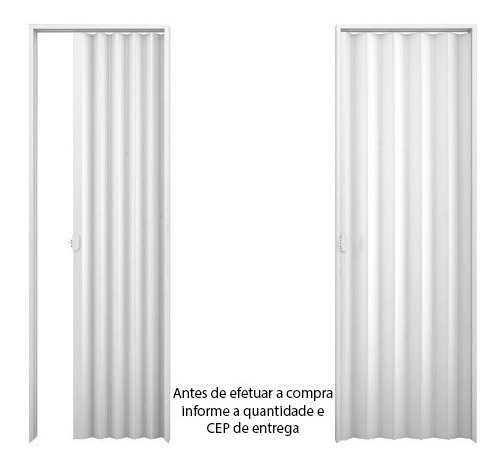 Porta Sanfonada Standard 1,30 X 2,10 - Branca Plasbil
