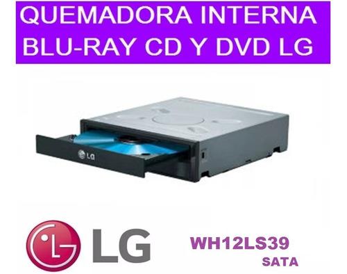 Imagen 1 de 2 de Vendo Quemadora Cd Dvd Blu-ray Interno Sata Pc LG