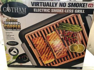 Gotham Steel Electric Smokeless Grill Parrilla Eléctrica