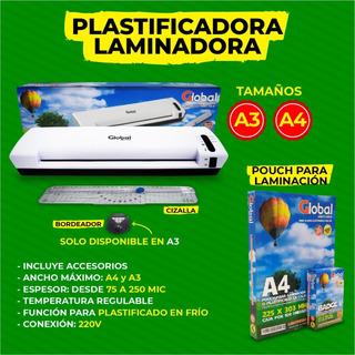 Plastificadora Y Laminadora En Caliente Y Frío A4 Global