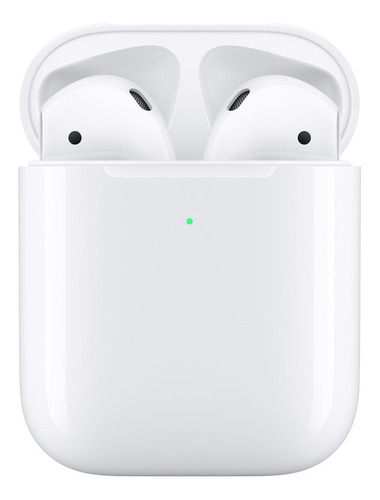 Fone de ouvido In-ear sem fio Apple AirPods with wireless charging case (2nd generation) branco