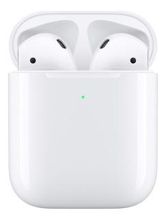 Fone de ouvido sem fio Apple Airpods with Wireless Charging Case (2nd Generation) branco