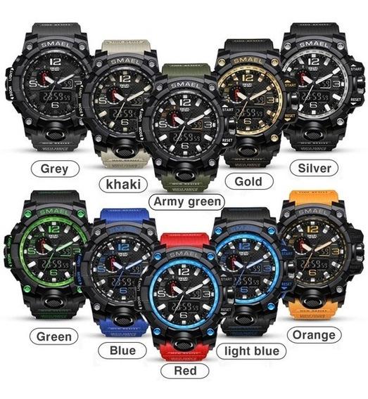 Relógio Smael, Laranja, Militar, Grande, Frete Grátis