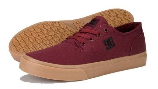 Tenis Hombre Dc Shoes Flash 2 Tx Mx Tinto Originales Casual