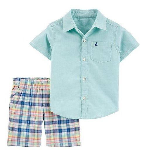 Camisa Y Short Para Niño/bebe Carters 2 Piezas