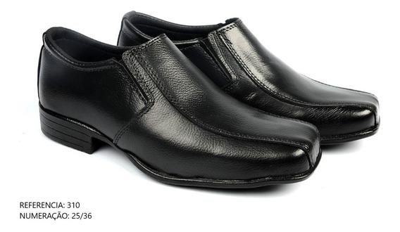 Sapato Social Masculino Infantil Fosco Em Couro Lindo