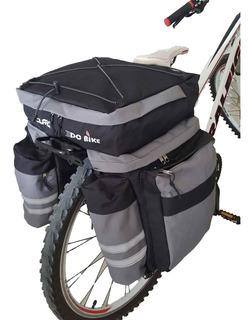 Alforja 70 Lts Dc Bike + Cubre + Portaequipaje De Aluminio