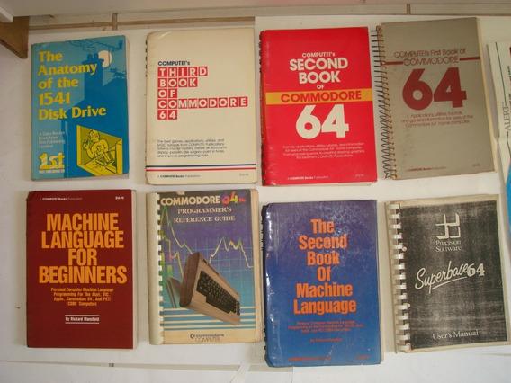 Grande Lote Livros Commodore C64 Programação Guia + 2 Jogos