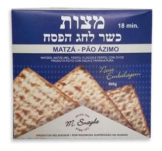 Pão Ázimo Matza Para Ceia Judaica Rabino Snayde 500g