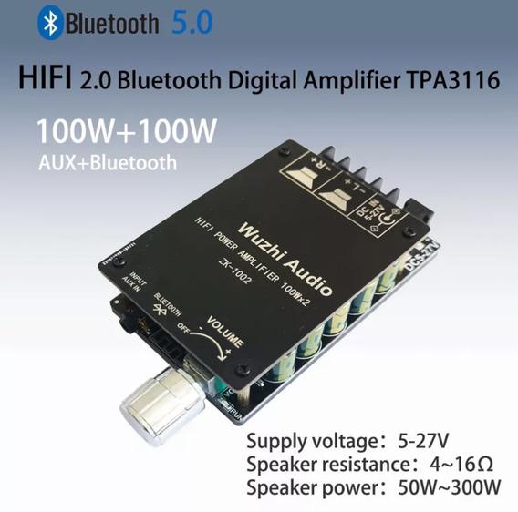 Mini Amplificador Digital Bluetooth/auxiliar Hifi 200 Watts