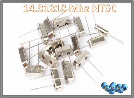 10 Cristal Oscilador 14.31818 Mhz Ntsc